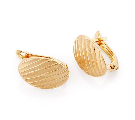 Фото«GZ-6579»Серьги из золота без камней с алмазной гранью «Арбузы»