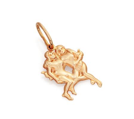 Фото«GZ-7140»Подвеска знак зодиака «Близнецы» из золота