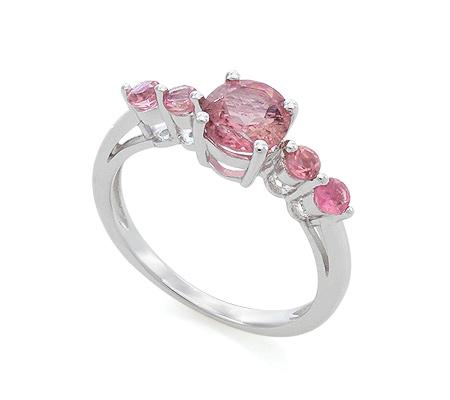 Фото«VG-7763»Кольцо из серебра с розовым турмалином