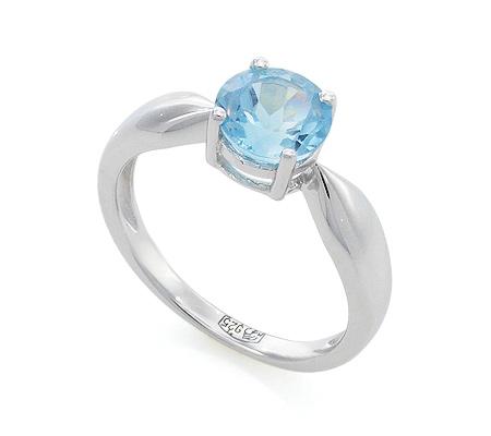 Фото«VG-7767»Серебряное кольцо с голубым топазом