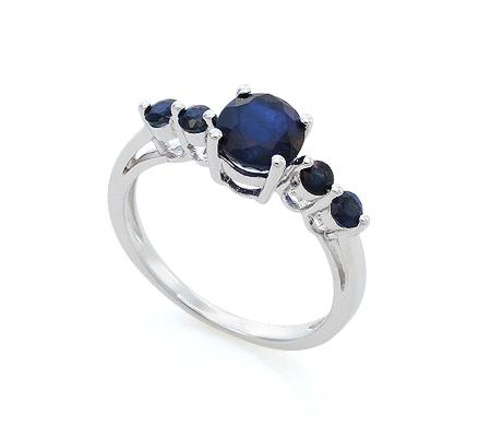 Фото«VG-7782»Серебряное кольцо с натуральным корундом