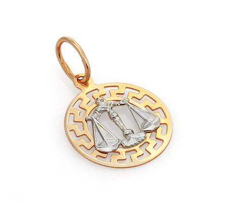 Фото«GZ-7814»Подвеска из золота знак зодиака «Весы»