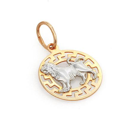 Фото«GZ-7816»Подвеска знак зодиака «Лев» из золота