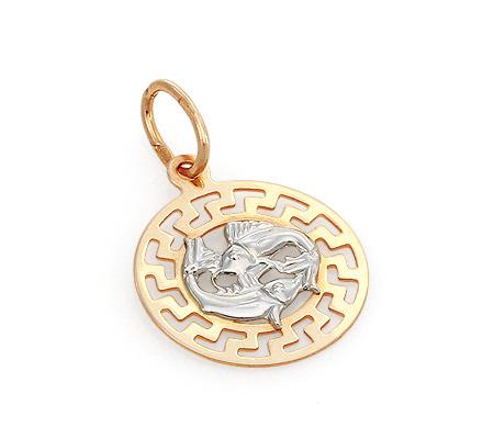 Фото«GZ-7819»Подвеска знак зодиака «Рыбы» из золота