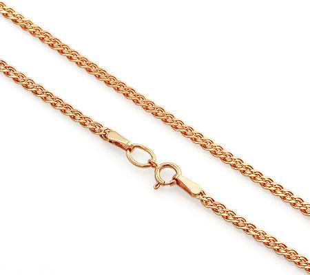 Фото«VGL-8434»Женская золотая цепочка плетение «Нона»