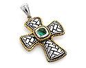 Крестики с драгоценными камнями; Код: VG-8464; Вес: 8.89г; 4500р.