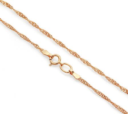 Фото«VGL-9060»Женская цепочка из золота плетение «Сингапур»