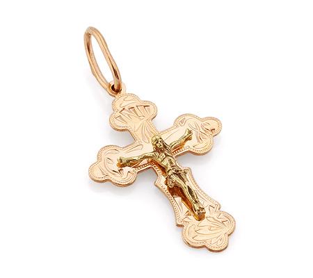Фото«VL-4776»Золотой православный крестик для мужчины / для женщины