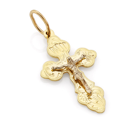 Фото«VL-4778»Православный нательный крест желтое золото
