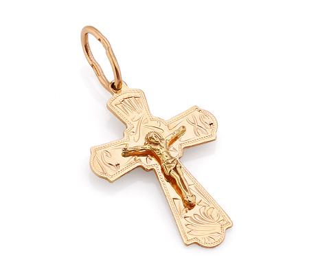 Фото«VL-4781»Православный золотой крестик для девушки или парня