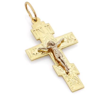 Фото«VL-4784»Массивный крест из желтого золота для мужчины