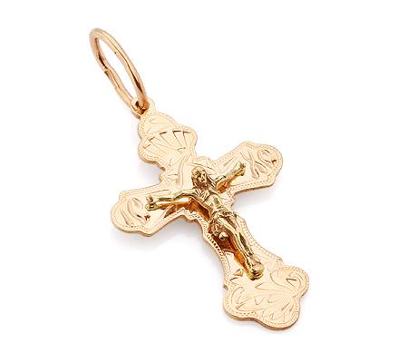 Фото«VL-4789»Православный золотой крестик ручной работы