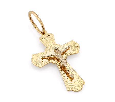 Фото«VL-4791»Православный крестик из желтого золота
