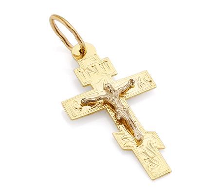 Фото«VL-4797»Православный крест из желтого золота