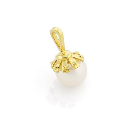 Фото«VL-5586»Золотой кулон с жемчугом