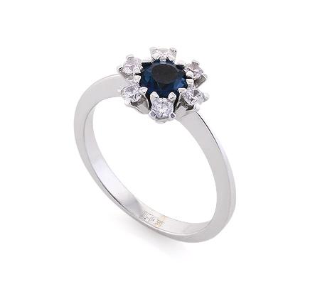 Фото«VL-6693»Золотое кольцо с топазом «London Blue»