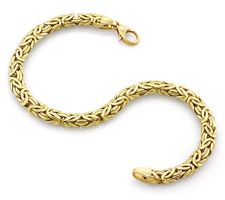 Фото«VL-9641»Золотой браслет ручной работы, плетение «Византийское»