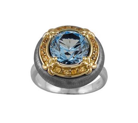 Фото«VM-604»Кольцо на заказ из серебра и золота «Круг 9 с перевязками»