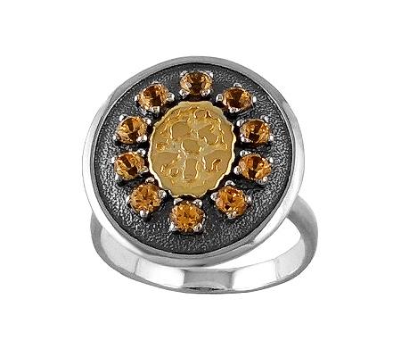 Фото«VM-701»Кольцо на заказ из серебра и золота «Мерцание»
