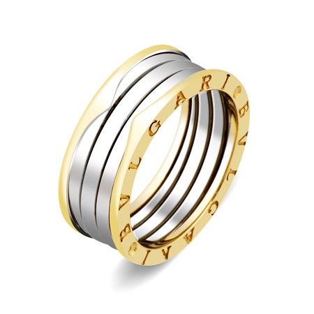 Фото«ZG-5200»Золотое кольцо Булгари из желтого и белого золота
