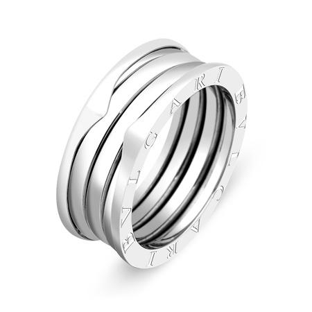Фото«ZG-5277»Золотое кольцо Булгари из белого золота 8 мм