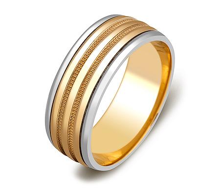 Фото«ZG-20001»Обручальное кольцо из двухцветного золота парное