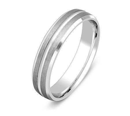 Фото«ZG-20011»Обручальное кольцо из белого золота парное