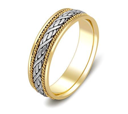 Фото«ZG-20012»Обручальное кольцо косичка из золота парное