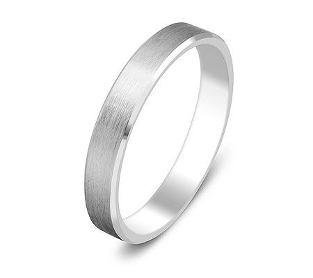 Фото«ZG-20015»Парное обручальное кольцо из белого золота