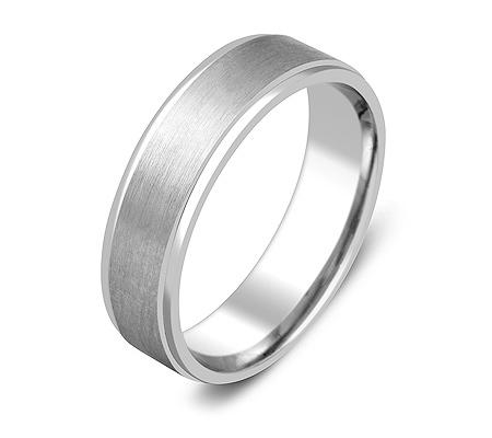Фото«ZG-20017»Обручальное кольцо из белого золота парное