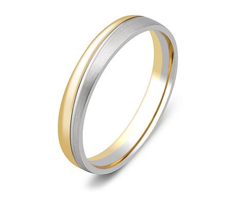 Фото«ZG-20019»Обручальное кольцо из комбинированного золота парное