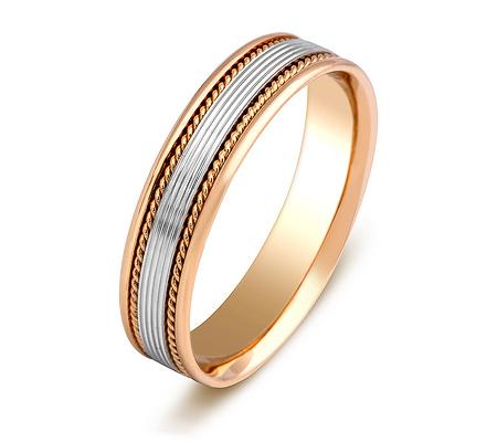 Фото«ZG-20022»Обручальное кольцо из красного и белого золота парное