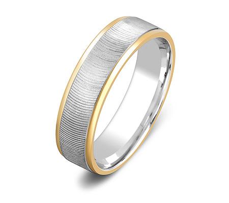 Фото«ZG-20024»Парное обручальное кольцо из белого и желтого золота