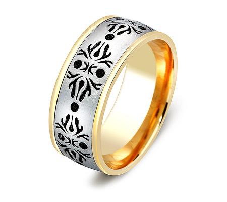 Фото«ZG-20028»Широкое обручальное кольцо из золота парное