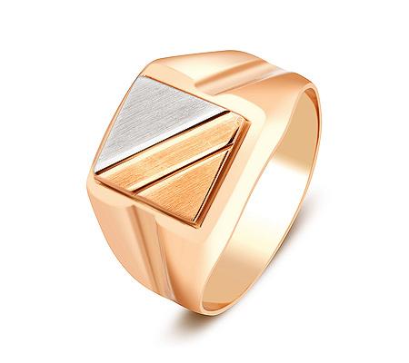 Фото«ZG-2047»Золотая мужская печатка без камней