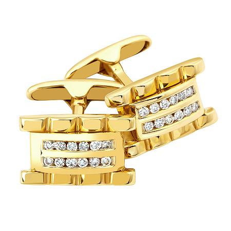 Фото«ZG-2303»Запонки из желтого золота с бриллиантами