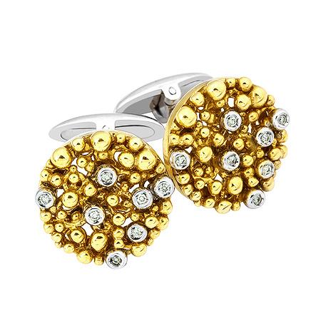 Фото«ZG-2312»Запонки из комбинированного золота с бриллиантами