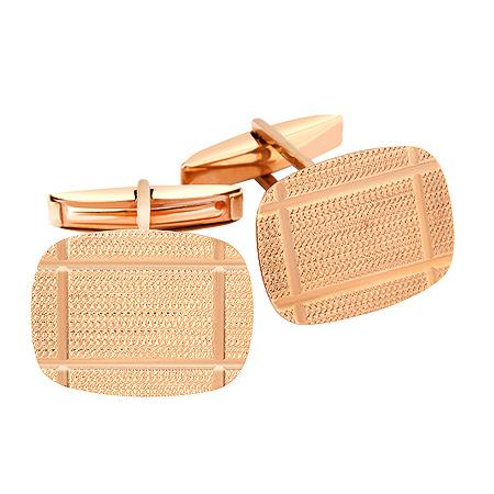 Фото«ZG-2335»Золотые запонки из красного золота без камней