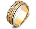 Обручальные кольца с бриллиантами; Код: ZG-30001; Вес: 5.39г; 0р.