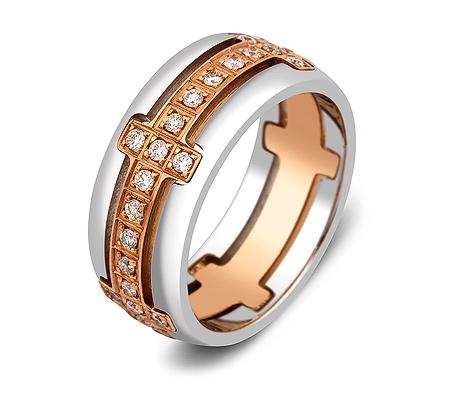 Фото«ZG-30003»Обручальное кольцо из золота с бриллиантами