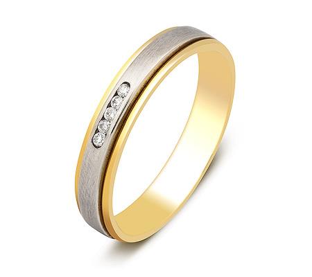 Фото«ZG-30004»Обручальное кольцо с 5 бриллиантами