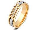 Обручальные кольца с бриллиантами; Код: ZG-30009; Вес: 3.62г; 0р.