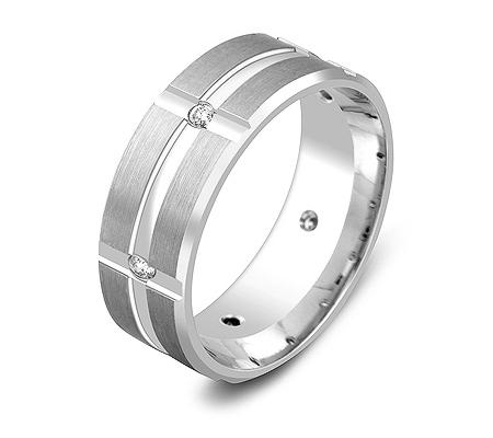 Фото«ZG-30010»Широкое обручальное кольцо из золота с 6 бриллиантами