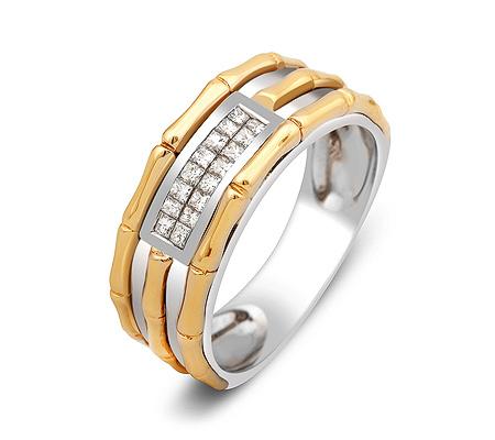 Фото«ZG-30013»Обручальное кольцо из золота с бриллиантами