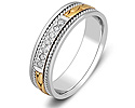 Обручальные кольца с бриллиантами; Код: ZG-30018; Вес: 4.64г; 0р.