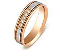 Обручальные кольца с бриллиантами; Код: ZG-30022; Вес: 3.52г; 0р.