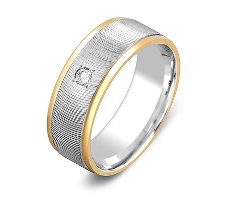 Фото«ZG-30024»Обручальное кольцо из золота с бриллиантом