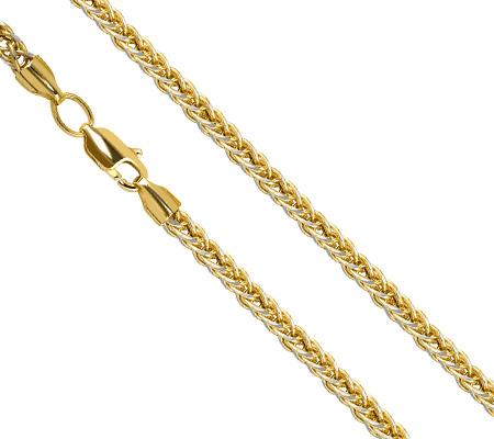 Фото«ZG-4006»Женская цепочка из желтого золота с белым родием