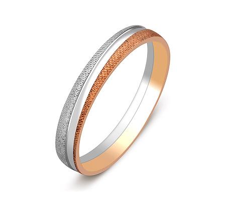 Фото«ZG-50005»Обручальное кольцо двухцветное золото