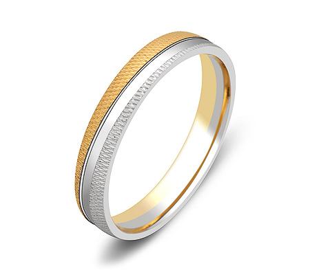 Фото«ZG-50006»Обручальное кольцо из двухцветного золота